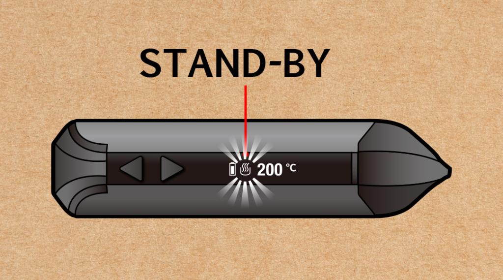 Xタイプ 加熱温度の表示と見方